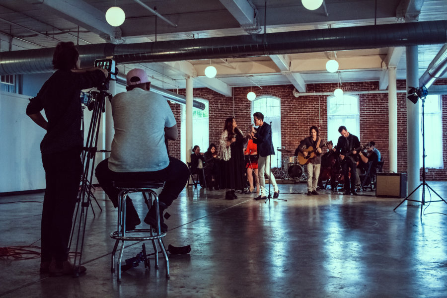 "Behind the scenes of the music video for the song ""Yo Soy Inmigrante"""