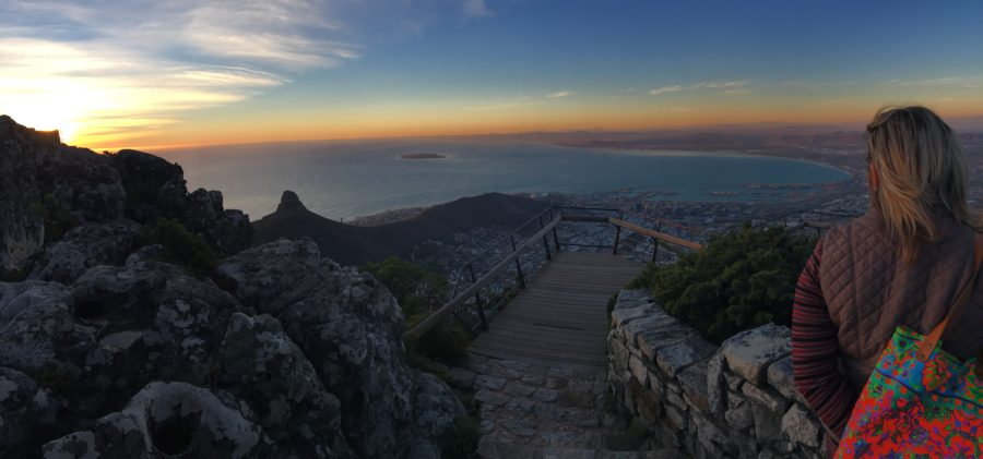 Cape of Good Hope viewed from mountain top