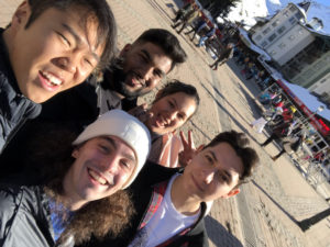 Rehan and friends in Valencia
