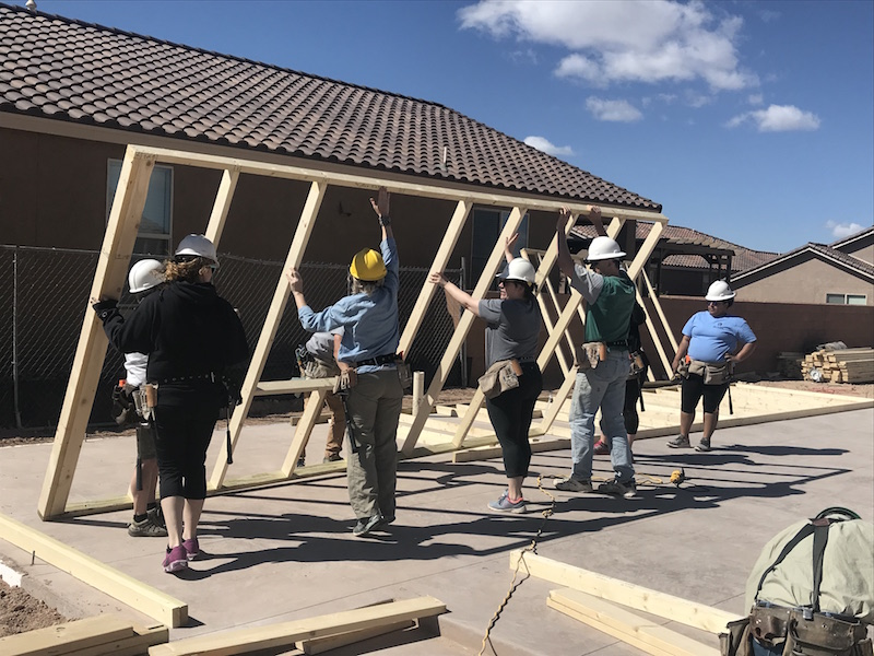 Building a house in Santa Fe for Habitat for Humanity