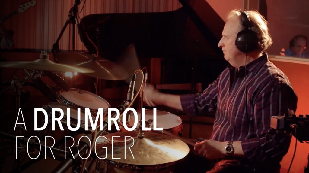 Roger Brown playing the drums